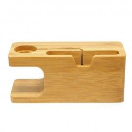 Dock sạc để bàn bằng gỗ cho Apple Watch