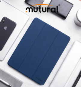 Bao da Ipad Pro 11 Mutural có khay để bút cao cấp