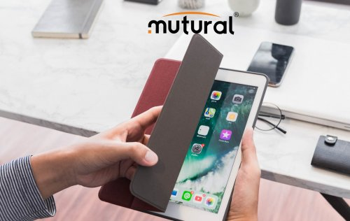 Bao Da Ipad Mini 5 2019 ( New) Hiệu Mutural Có Khe Để Bút Cảm Ứng ,1