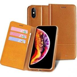Bao da Iphone XS Max Nouku cao cấp