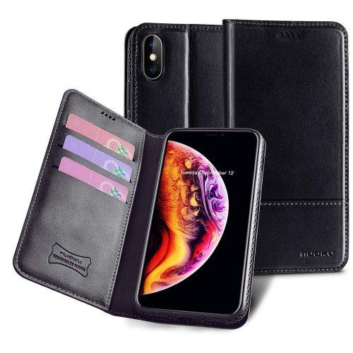 Bao da Iphone XS Max Nouku cao cấp ,2