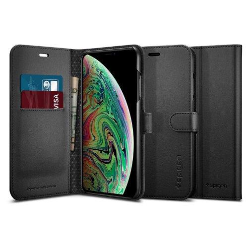 Bao da Iphone X/XS Spigen Wallet S USA cao cấp ,1