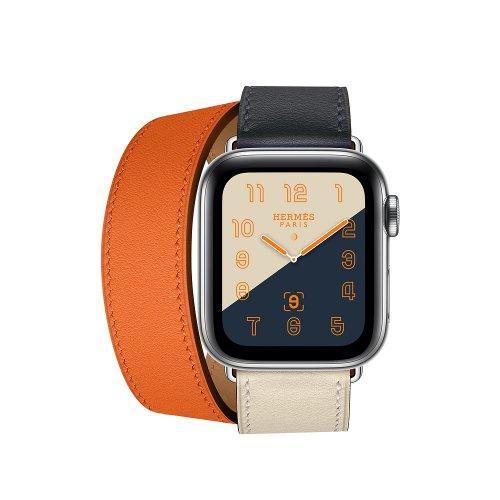 Dây Apple Watch Hermes Double Tour 2 màu 2018 (44 & 40 & 38 & 42) ,2