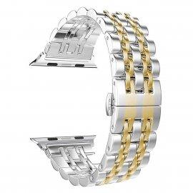 Dây đeo Apple Watch thép không gỉ hạt nhỏ ( 44&42 mm )