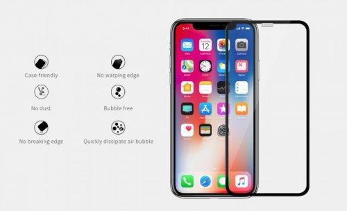 Kính cường lực Iphone XS Max Nillkin XD dùng được ốp chống sốc ,1
