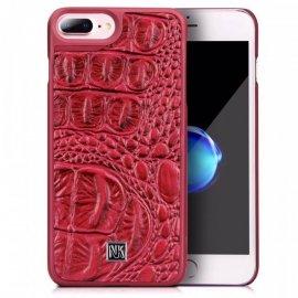 Ốp lưng Iphone 7 Plus/ 8 Plus Nouku da bò thật vân cá sấu cực đẹp