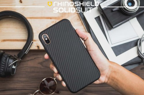 Ốp lưng Iphone XS Max RhinoShield Solid Suit Carbon cực chất USA ,2