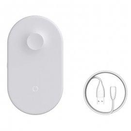 Sạc không dây Mini Air Power 2in1 Iphone và Apple Watch Baseus