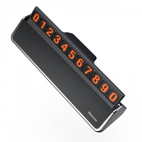 Bảng số điện thoại Baseus Hermit Temporary LV121 dùng cho xe hơi ,4