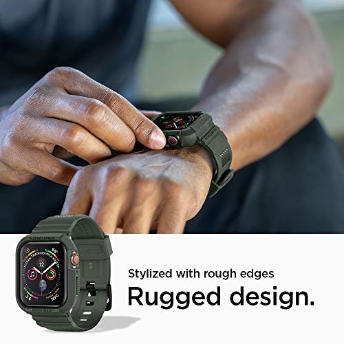 Ốp liền dây Apple Watch Spigen Rugged Armor Pro (44 mm) ,4
