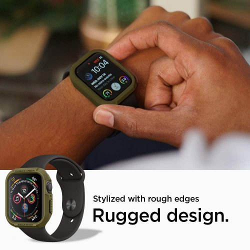 Ốp liền dây Apple Watch Spigen Rugged Armor Pro (44 mm) ,3