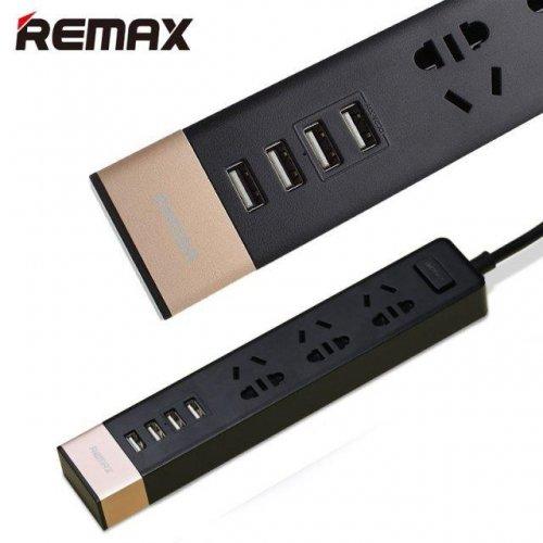 Ổ cắm điện đa năng Remax 4 cổng USB ,1