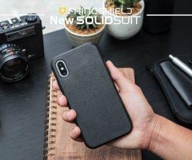 Ốp lưng Iphone XS Max RhinoShield Solid Suit vân da cực chất USA