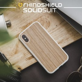Ốp lưng Iphone X/XS RhinoShield Solid Suit gỗ óc chó Light Walnut