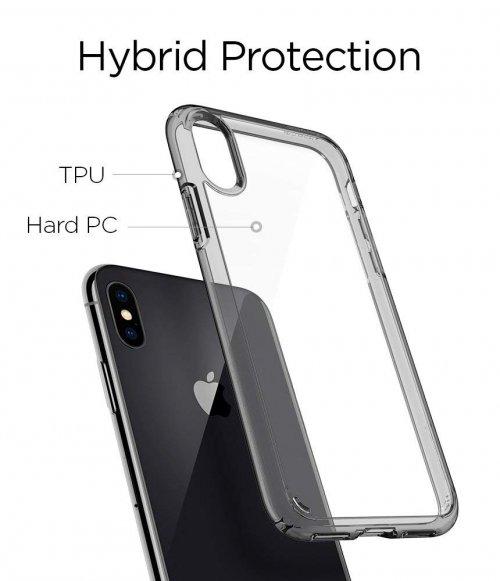 Ốp lưng Iphone XS Max Spigen SGP Ultra Hybrid trong viền bumper ,4