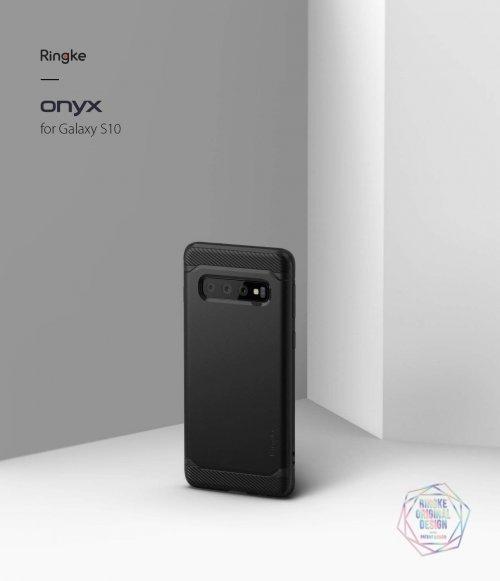 Ốp lưng  Galaxy S10 Plus  Ringke Onyx chống sốc ,1