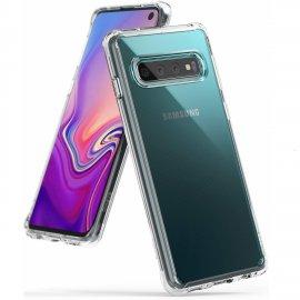 Ốp lưng Galaxy S10  RIngke Fusion USA trong suốt không ố màu