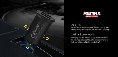 Củ sạc ô tô 2.4A 2 cổng USB Remax RCC219 ,2