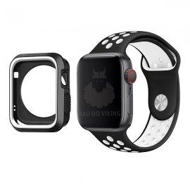 Dây kèm ốp bảo vệ Silicon Apple Watch COTEetCI 44mm