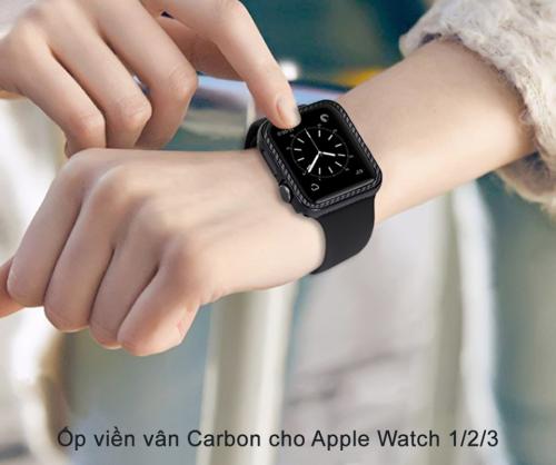 Ốp Apple Watch Vân Carbon 38/40mm ,2