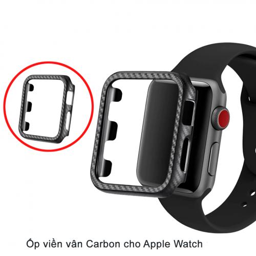 Ốp Apple Watch Vân Carbon 38/40mm ,3