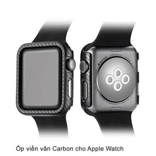 Ốp Apple Watch Vân Carbon 38/40mm ,4