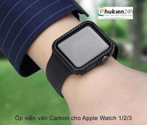 Ốp Apple Watch Vân Carbon 38/40mm ,5