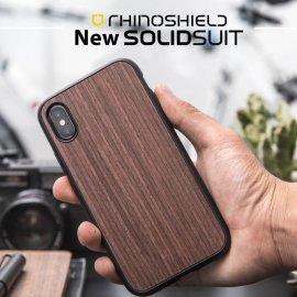 Ốp lưng Iphone XS Max RhinoShield Solid Suit Gỗ óc chó
