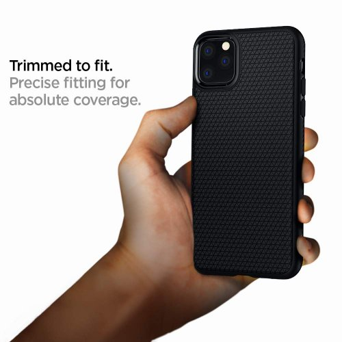 Ốp lưng Spigen Liquid Air Matte Black cho iPhone 11 Pro Max ,4