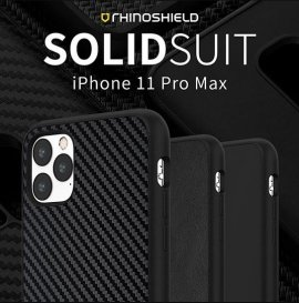 Ốp lưng Iphone 11 Pro Max RhinoShield Solid Suit Carbon cực chất USA