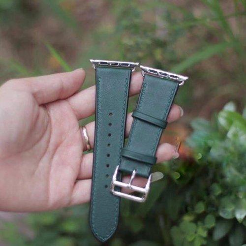 Dây Apple Watch Hermes Single Tour màu xanh (38/40/42/44mm) ,4