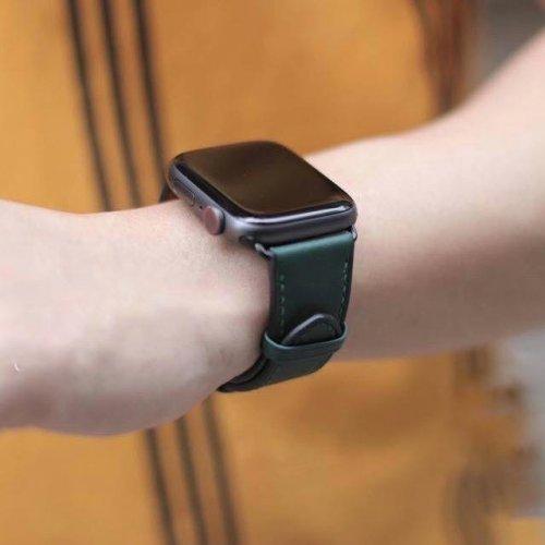 Dây Apple Watch Hermes Single Tour màu xanh (38/40/42/44mm) ,1