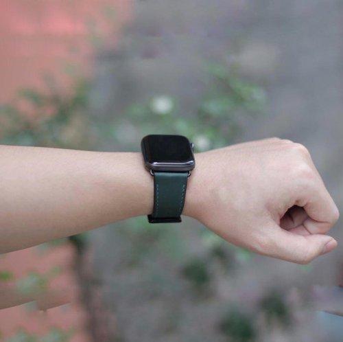 Dây Apple Watch Hermes Single Tour màu xanh (38/40/42/44mm) ,2