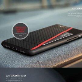 Ốp lưng da Iphone SE 2020 Viva Grafito Singapore vân cacbon