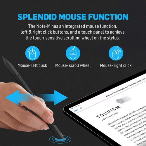 Bút cảm ứng tích hợp chuột Adonit Note-M ,5
